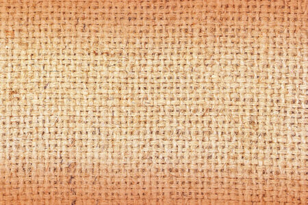 sackcloth brown textured background. Stock Photo