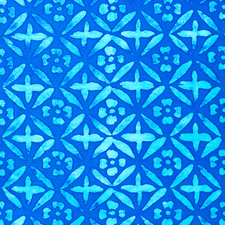 flowers on fabric , blue color photo