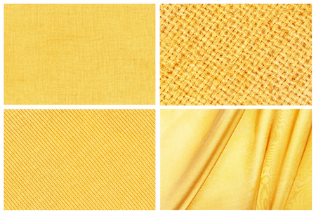 collection golden background , golden linen, golden sackcloth, golden sweater knitted and golden silk textured for background photo