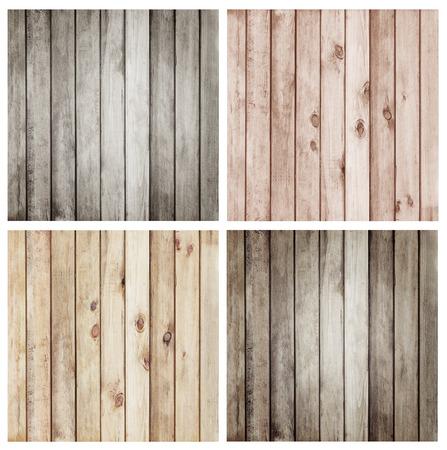 set4 コレクション木の板茶色の壁のテクスチャ背景