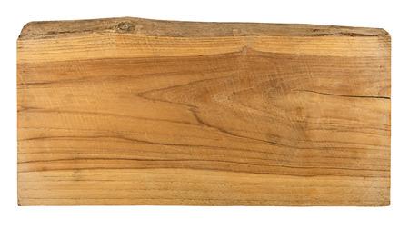 old plank wood isolated on white background