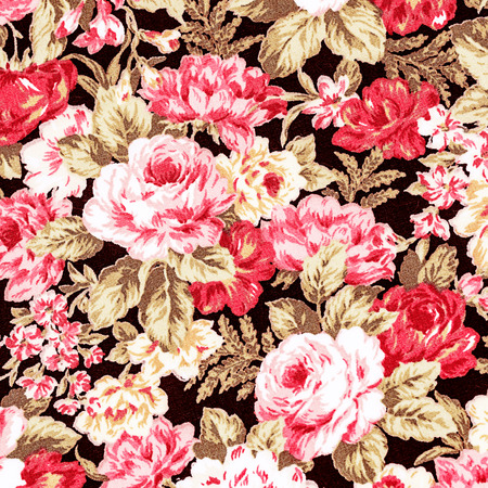 Rose Fabric background, Fragment of colorful retro tapestry textile pattern with floral ornament useful as background.