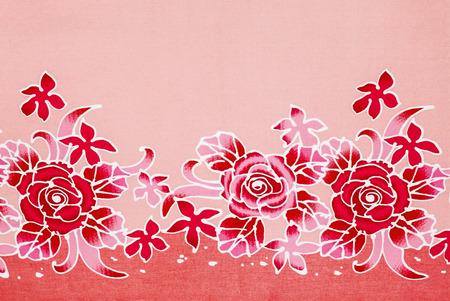hand made: rose on fabric, hand made. Stock Photo