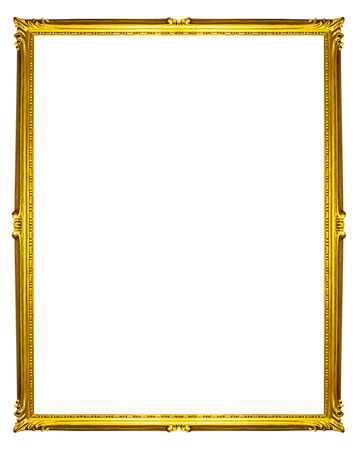 golden frame isolated on white background Imagens - 41965802