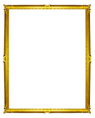 Marco de oro aislados sobre fondo blanco Foto de archivo - 41965802