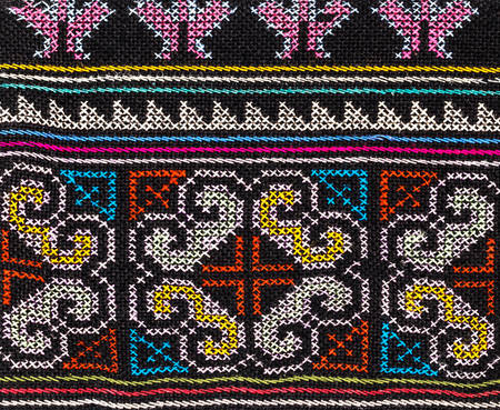 handcraft: Colorful thai handcraft style textile.