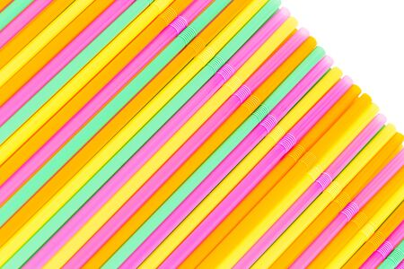 straws: colorful drinking straws for background.