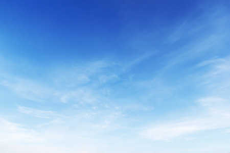 clear blue sky: Fantastic soft white clouds against blue sky background.