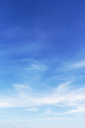 white clouds and blue sky background Stock Photo