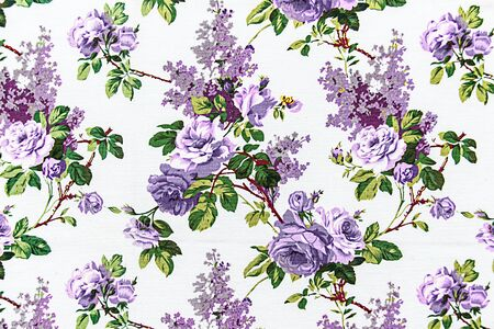 sateen: Rose bouquet Seamless pattern as background