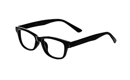 wayfarer: Black Glasses on white background, no glass.