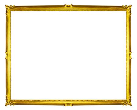 golden: golden frame isolated on white background