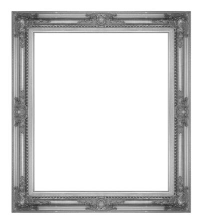 antique frame: antique gray frame isolated on white background