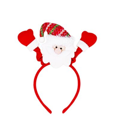 headband: santa headband isolated on white background.