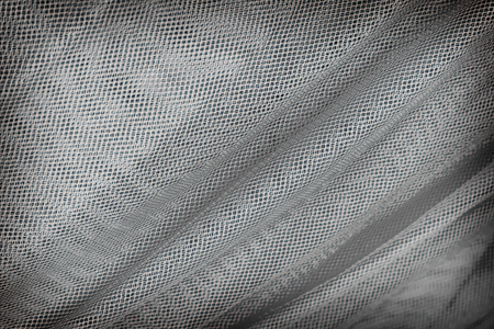 mesh: Blue mesh fabric for background. Stock Photo