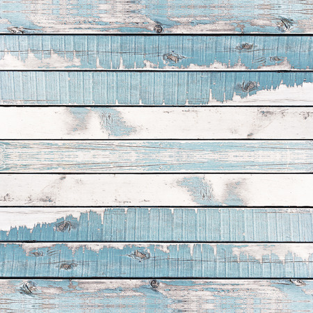 horizental: Wooden wall texture background, painted blue. Stock Photo