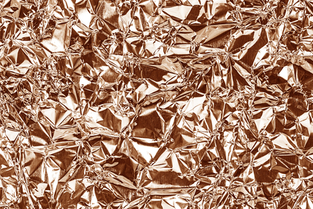 shiny gold: Shiny foil texture for background. Rose gold color. Crease.
