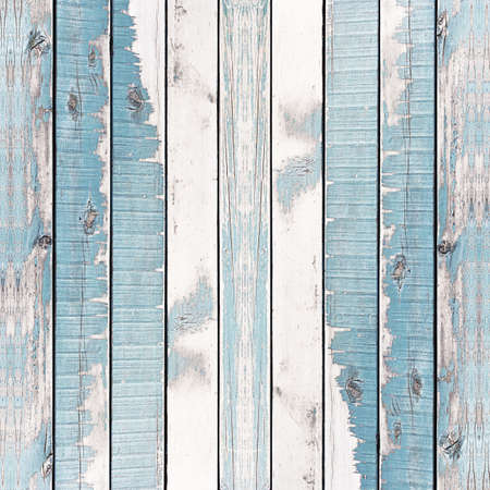Wooden wall texture background, painted blue, Vertical. Stock Photo