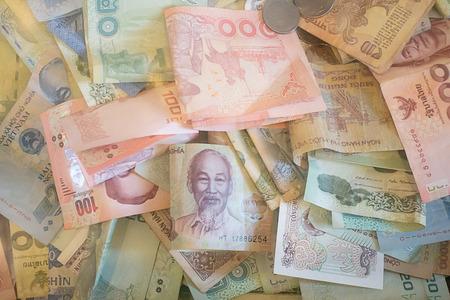 banknotes of Thailand , China and Viet  nam