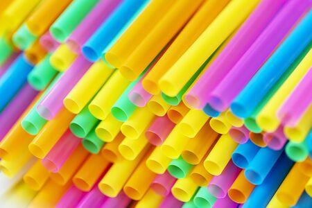 stro plastic kleurrijk voor achtergrond