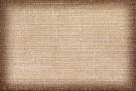 Linen fabric texture or background, Brown color and shadow 版權商用圖片