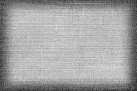 Linen fabric texture or background, Gray color and shadow.