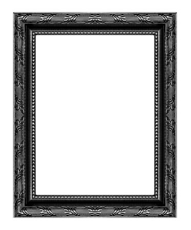Antique black frame isolated on white background, clipping path. Reklamní fotografie