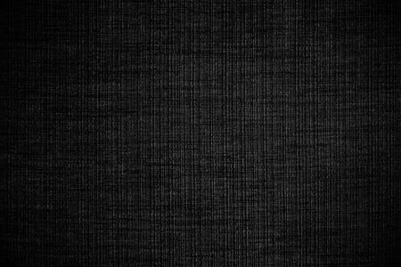 Black linen fabric texture or background