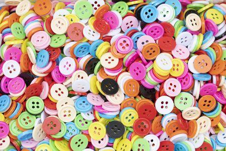 Button plastic colorful for background Reklamní fotografie - 127110904