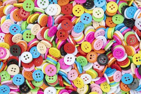 Button plastic colorful for background