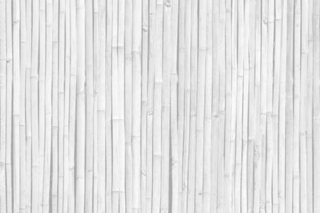 White gray bamboo wood wall texture or background. 写真素材
