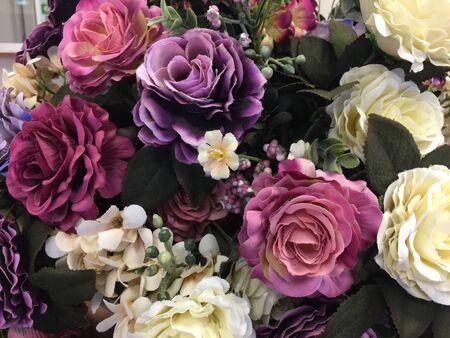 Fake roses flower for background
