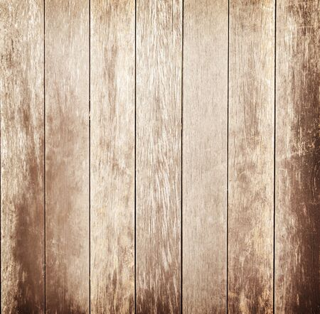 Brown wood wall plank texture or background Imagens