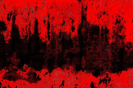 Texture ou fond de sang. Mur de béton avec des taches rouges sanglantes pour halloween. Banque d'images