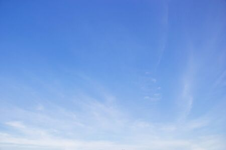Fantastic soft white clouds against blue sky and copy space