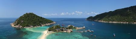nangyuan: Panorama Nangyuan island in Thailand Stock Photo