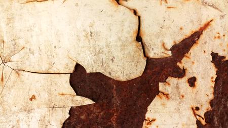 texture of rusty iron, cracked paint on an old metallic surface, rusty metal background 免版税图像