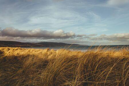 Scenic view of the shore at the North Sea side in Brora village in Scotland, UK Stock Photo
