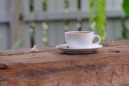 breezy: Coffee on table Stock Photo