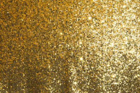 sequined: Gold sequined fabric