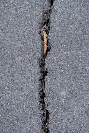 road surface: Asphalt road surface crack Stock Photo