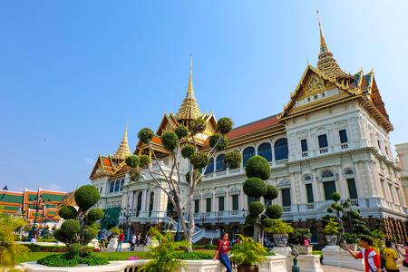bangkok: Bangkok, Thailand - Febuary 22 , 2016 : Chakri Maha Prasat The Grand Palace in Bangkok Thailand, Major sights and attractions of Thailand, with most tourists visit.