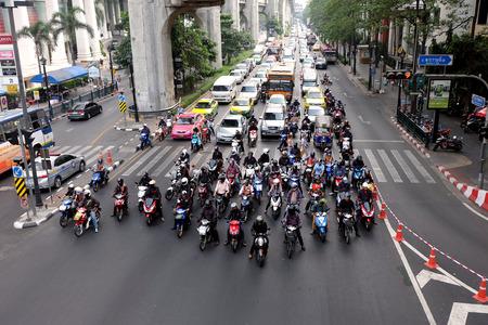 traffic jams: Roads with traffic jams in Bangkok. Editorial