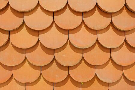 Textura de fondo de azulejos de azotea del templo tailandés Foto de archivo