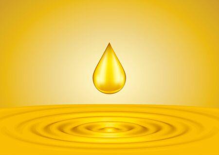 liquid gold: Drops of liquid gold close up