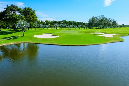 Landscape Wide green lawns, golf courses.