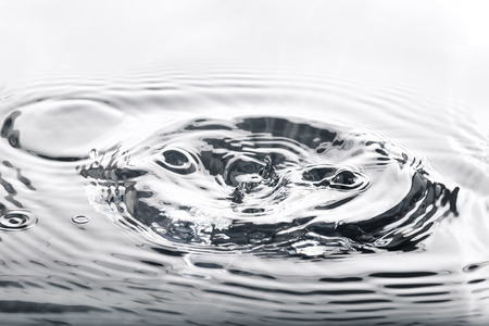Liquid silver metal abstract ,water drops waves and ripples.