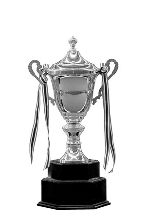 Trophy competition isolated on white background Stock Photo