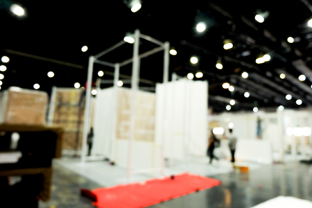 Blurred abstract background of Event or Exhibition hall location.