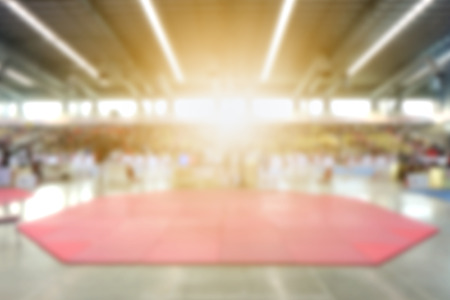 Abstract blurred background Hall of Fame Indoor Stadium